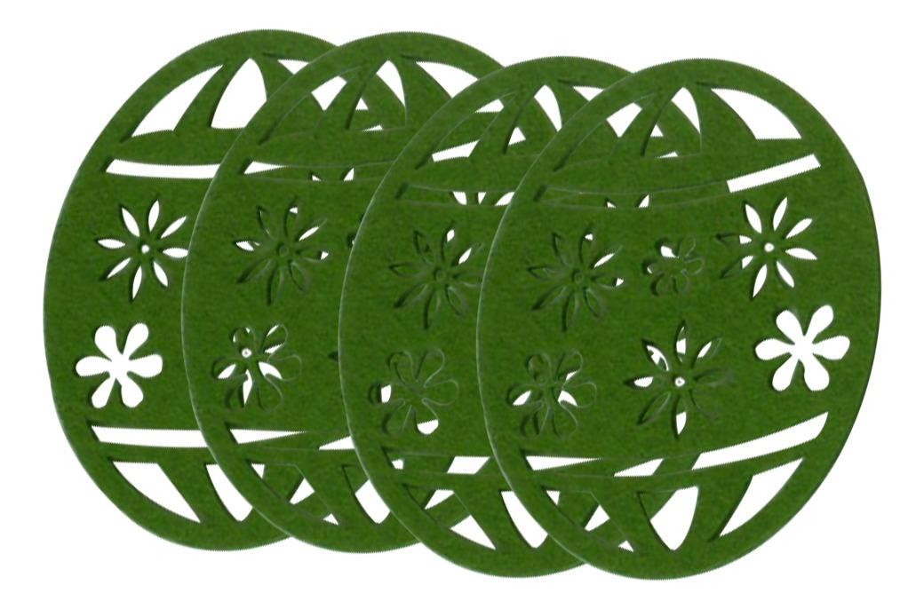 Paquete De 4 Unids Mantel Mantel Coaster Coaster Taza Taza