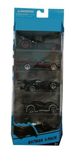 paquete de 5 carros metálicos de colección de batman cm-3002