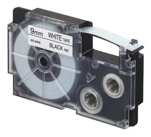 paquete de 5 cintas para rotulador casio xr-9we1 9mm x 8mts