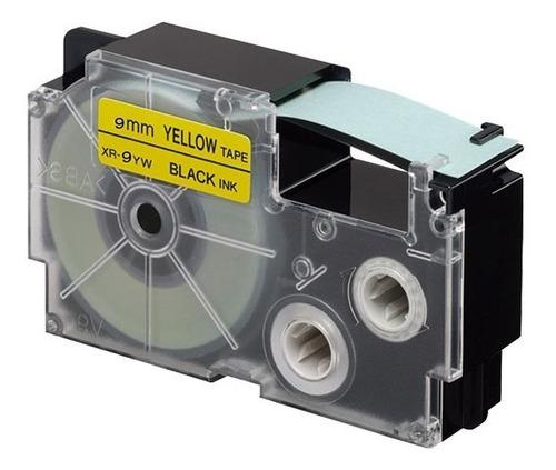 paquete de 5 cintas para rotulador casio xr-9yw1 9mmx8m