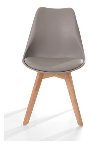 paquete de 5 sillas eames hood modernas minimalistas madera
