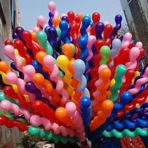 paquete de 6 globos espirales entorchados colores a escoger!
