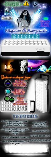 paquete de 6 lamparas recargables de 30 leds 2 modos genial!