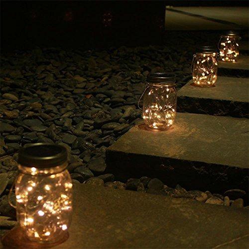 paquete de 6 luces solares con luces de frascos de vidrio 2