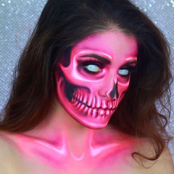 Paquete De 6 Maquillaje Para Halloween Neon Fosforescente - Maquillage-para-halloween