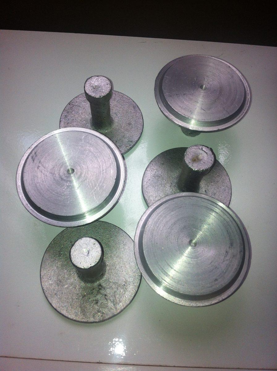 Paquete de 6 placas de aluminio para topografia - Placa de aluminio ...