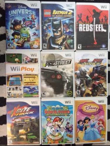 paquete de 9 video juegos de wii