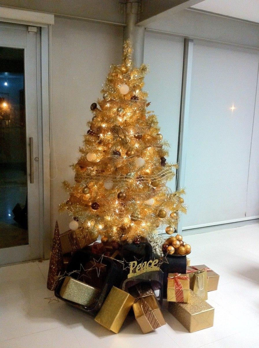 Paquete De Arbol De Navidad Dorado Con Series Y Esferas 250000 - Arboles-de-navidad-dorados