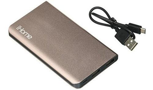 paquete de bateria externa ihome rose gold