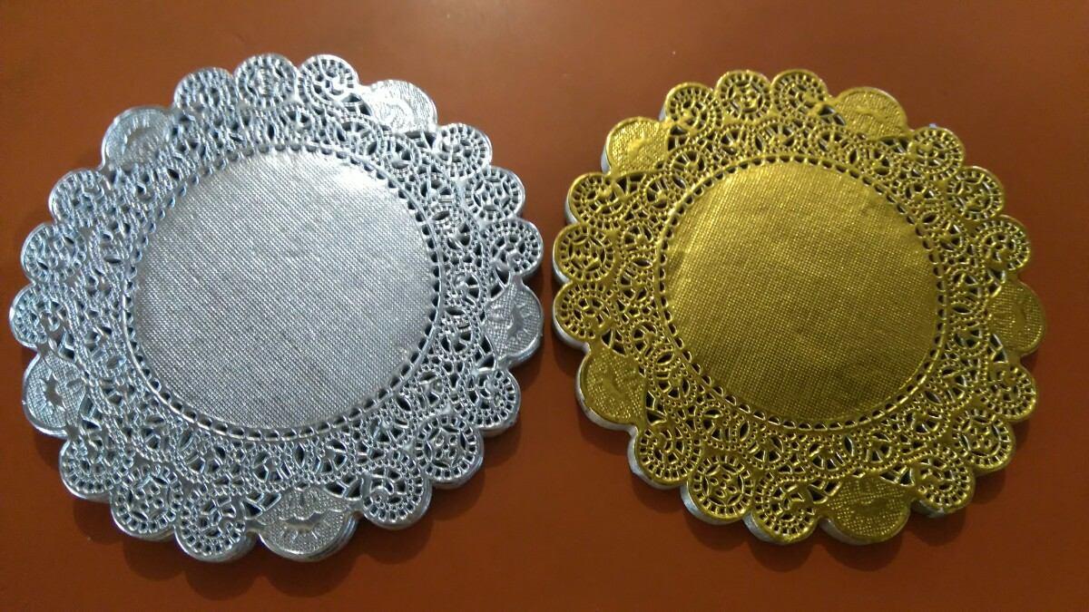 Paquete de blondas de papel 5 c 100 dorada en - Blondas de papel ...