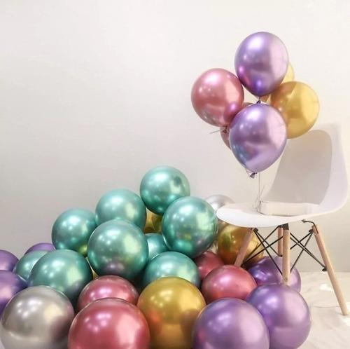 paquete de bombas cromadas/globos cromados x50 unidades