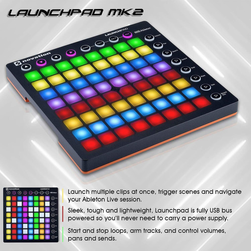 paquete de controlador novation launchpad mk ii ableton...