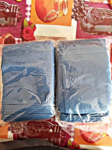 paquete de cubre bocas doble capa / 100 cubre bocas