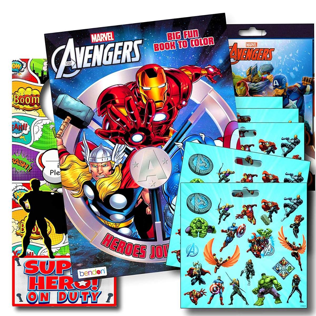 Paquete De Dibujos Para Colorear De Marvel Avengers Con P