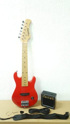 paquete de guitarra electrica y ampli para niños negra azul