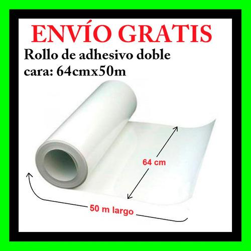 paquete de laminadora 65 cm, textura y adhesivo 64cmx50m.