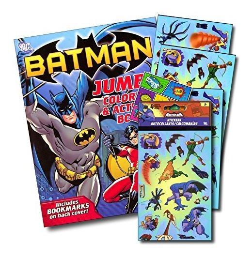 Batman 4 hojas de la etiqueta engomada