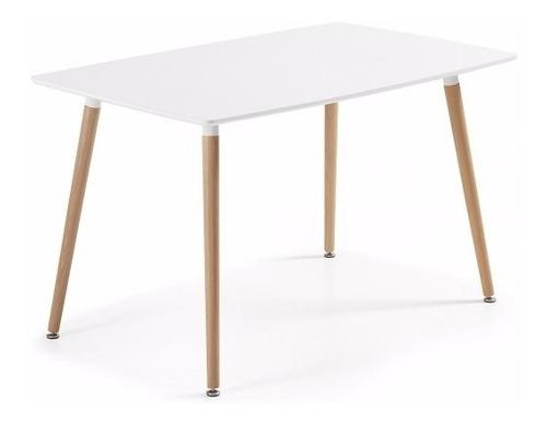 paquete de mesa eames comedor blanca y 4 sillas eames  promo