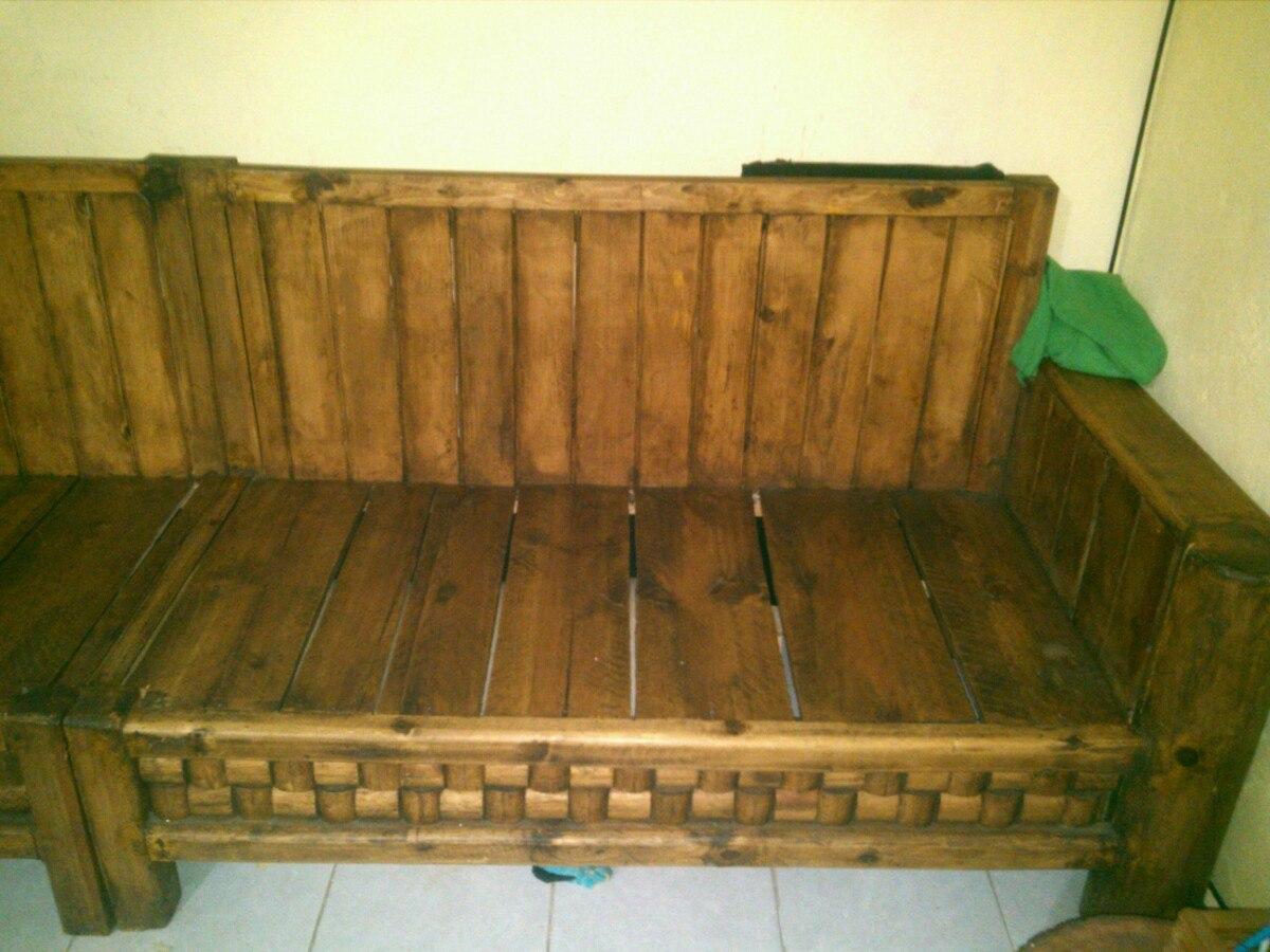 Paquete de muebles rusticos 6 en mercado libre for Muebles vanitorios rusticos