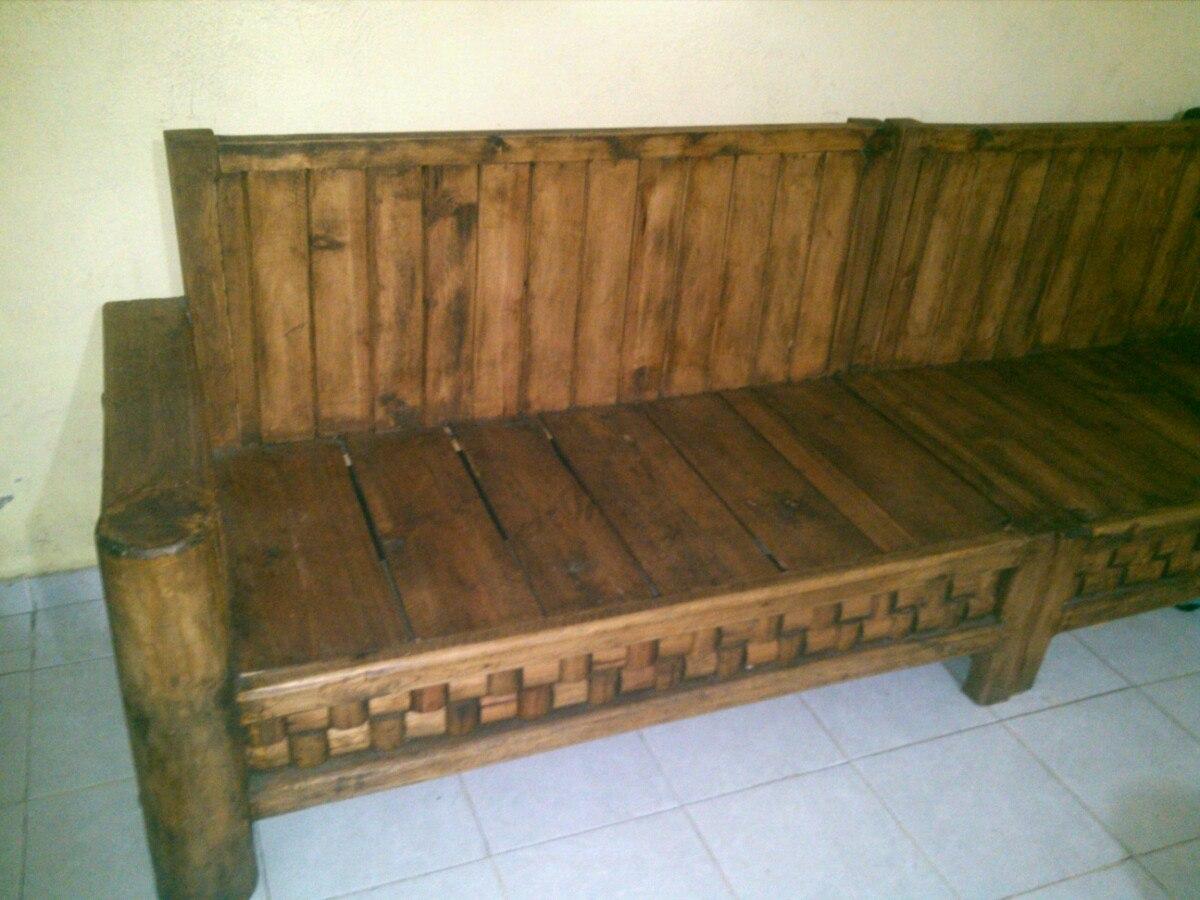Paquete de muebles rusticos 6 en mercado libre - Muebles rusticos para tv ...