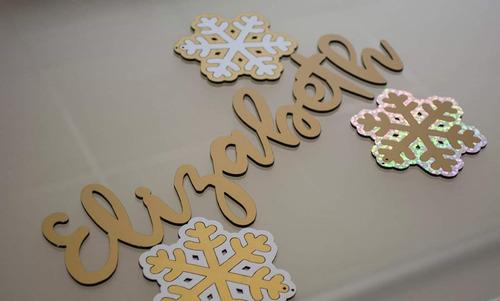 paquete de nombres para arbolito navideño