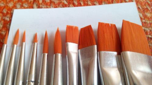 paquete de pinceles para acuarela mecanorma con 10 piezas