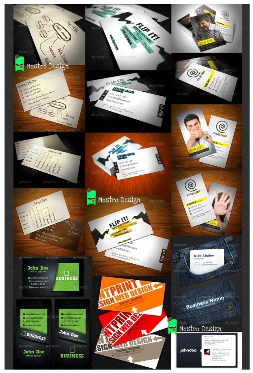 Paquete De Plantillas Para Tarjetas De Presentación Diseño - $ 69.00 ...