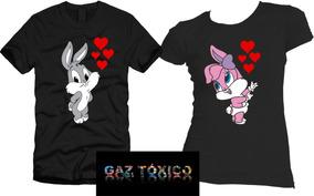 muy baratas cómo llegar buscar oficial Paquete De Playeras Parejas Novios Lola Bunny & Bugs Bunny