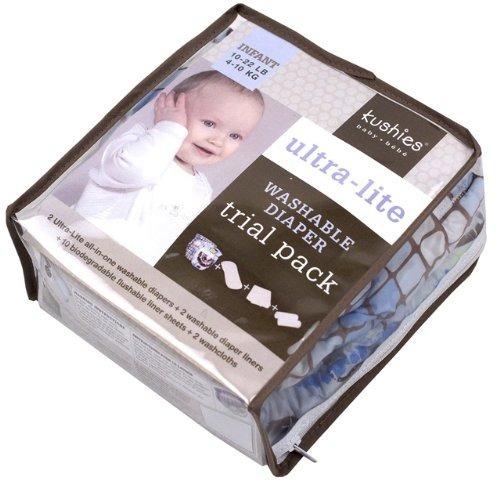 paquete de prueba kushies reutilizable ultra-lite pañales