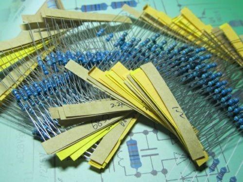 paquete de resistencias comerciales 1280pc de 1-10mohm 1/4w