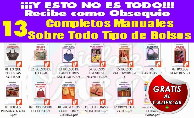 Paquete De Revistas Y Patrones De Bolsos Carteras Y Más - Bs. 40,00 ...