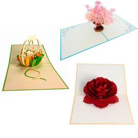 Paquete De Tarjetas Felicitación Día De Madres Pop Up 3d