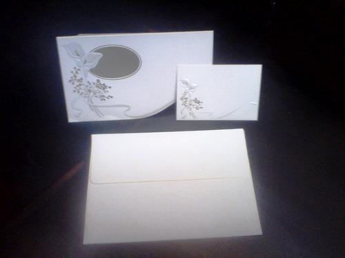 paquete de tarjetas finas de invitacion a boda