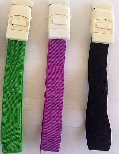 paquete de tres torniquetes de tela verde