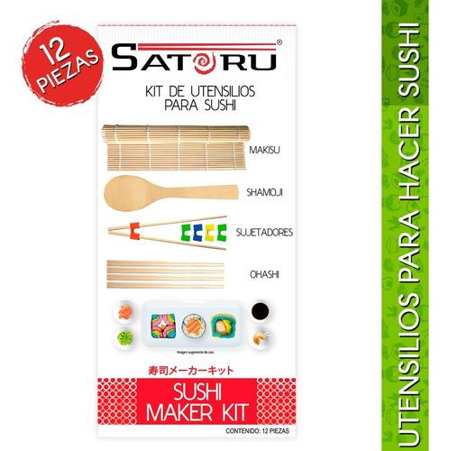 paquete de utensilios para preparar sushi con 12 piezas