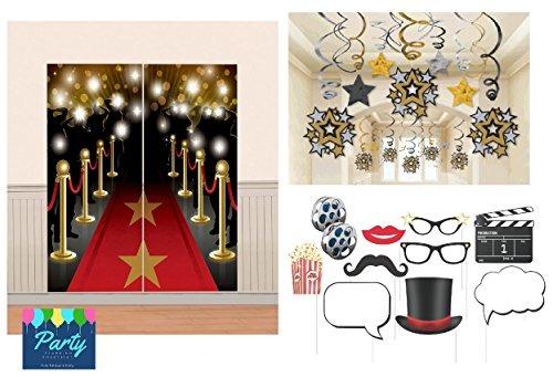 966c57365be13 Paquete Decoración Hollywood Theme Mega Que Incluye Decoraci ...