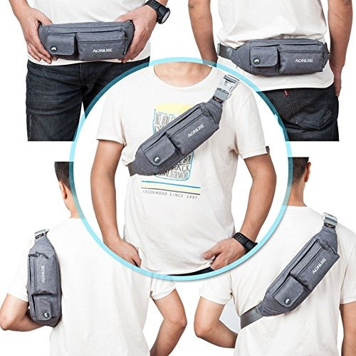 paquete del bolso de cintura delgada de poliéster suave