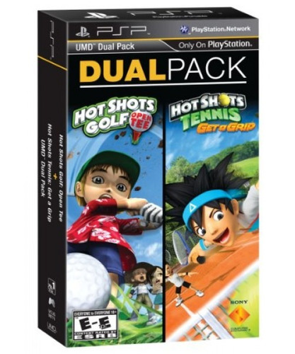 paquete doble psp - hot shots golf: open tee y hot shots