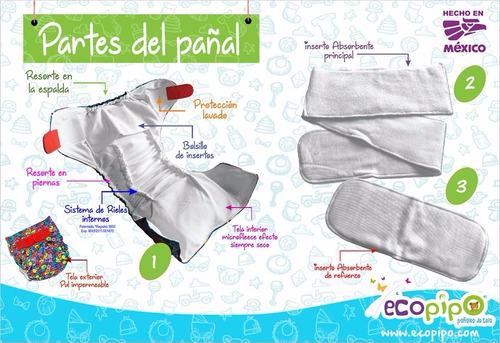 paquete ecopipo 6 pañales + detergente o filtro de bambú