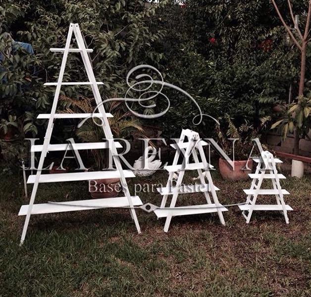 Paquete escaleras de madera mesa de postres decoracion - Escaleras de madera decoracion ...