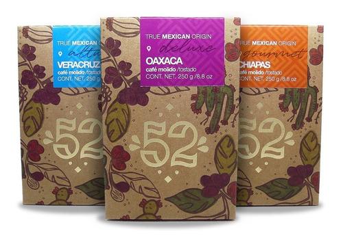 paquete especial café mexicano molido artesanal marca 52