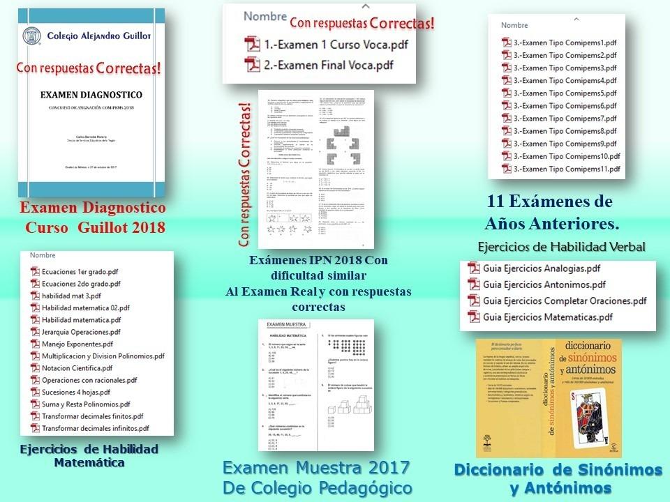 Paquete Exámenes Comipems Ingreso Bachillerato Examen 2019 ...
