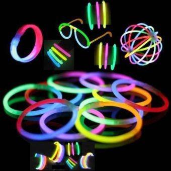 paquete fiesta lentes pulseras luminosos glow neón con luz