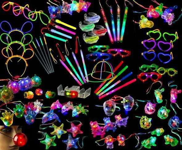 Pulseras de neon para fiestas