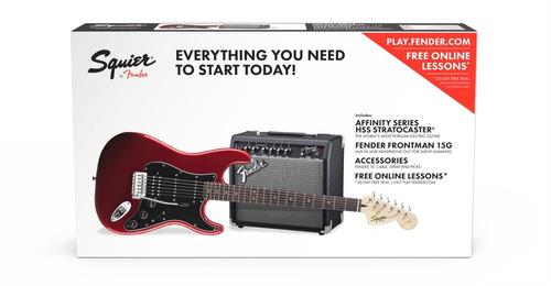 paquete guitarra eléctrica fender squier stratocaster hss