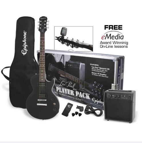 paquete guitarra electrica les paul epiphone special pack