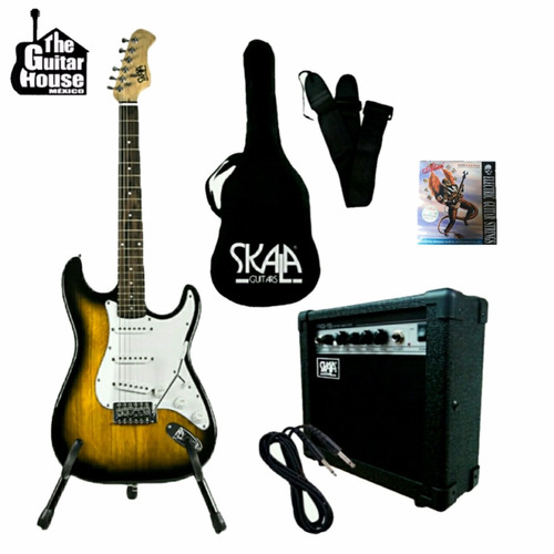 paquete guitarra electrica skala envio gratis color sombors