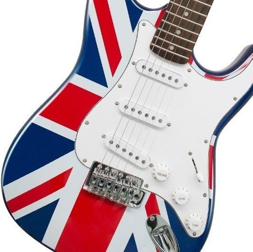 paquete guitarra eléctrica stratocaster inglesa skala