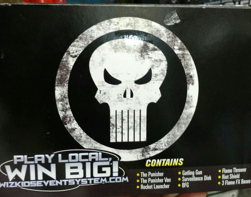 paquete heroclix punisher van exclusivo sdcc comic con 2016