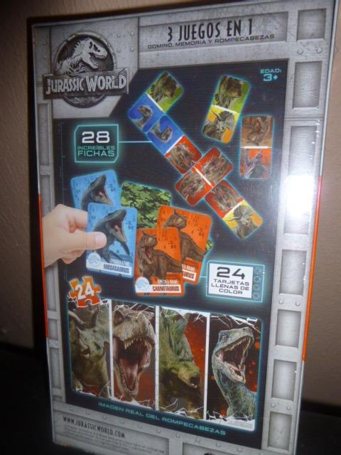 Paquete Jurassic World Juego De Mesa 3 En 1 Y Dinosaurios